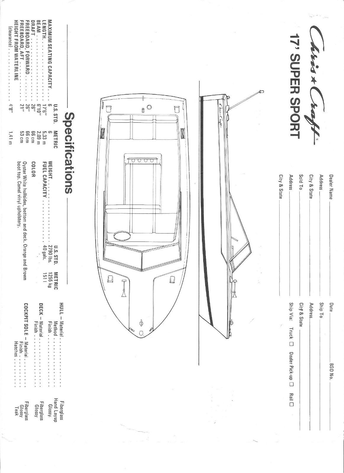 Chris Craft Super Sport 17 Ski Boat For Sale For