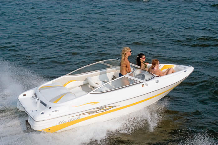 boat captain chairs wicker chair and ottoman sx18 mariah, white with yellow accent black bimini 2007 for sale $10,000 - boats-from ...