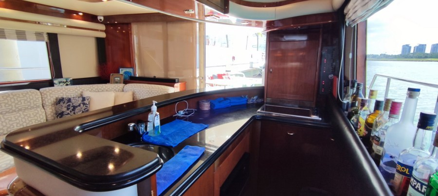kitchen of Nuvaris 60ft 61 62 63 64 65  yacht for rent in Cancun