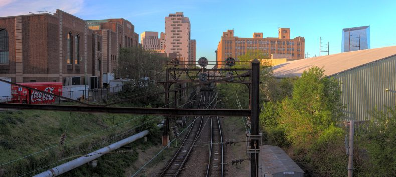 SEPTA Southwest Connection View from Penn Park Philadelphia, Pennsylvania Copyright 2019, Bob Bruhin. All rights reserved.