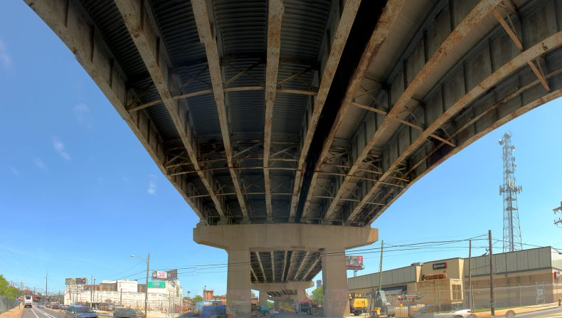 Beneath the Roosevelt Expressway 4413 Clarissa St Philadelphia, PA Copyright 2019, Bob Bruhin. All rights reserved.