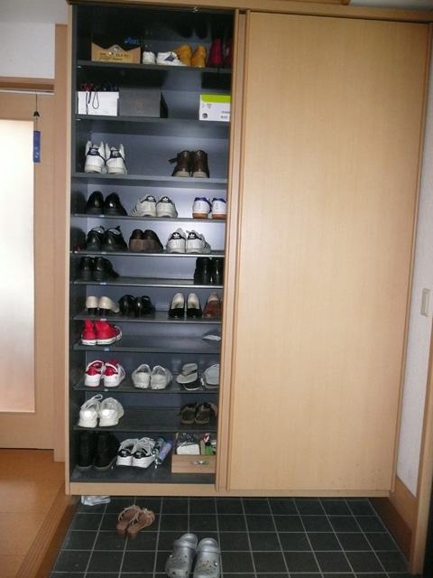 Shoe cabinet at front door