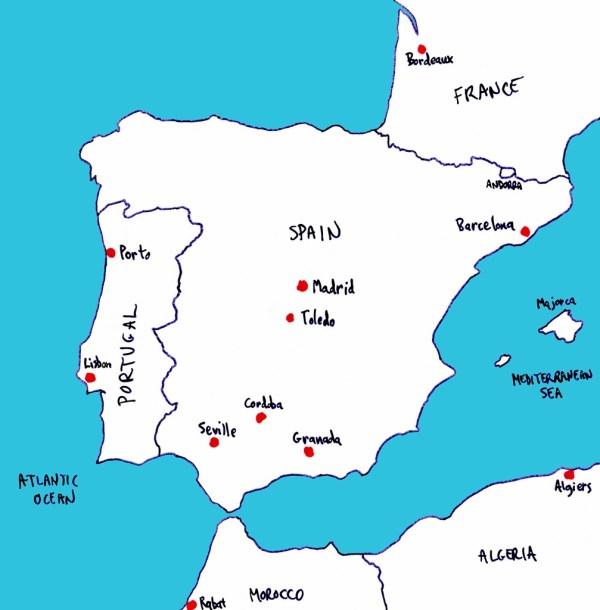 SEVILLE SPAIN MAP Imsa Kolese