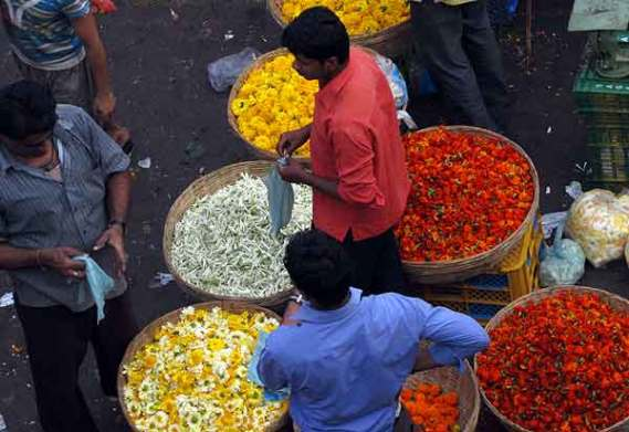 Mumbai flower mart