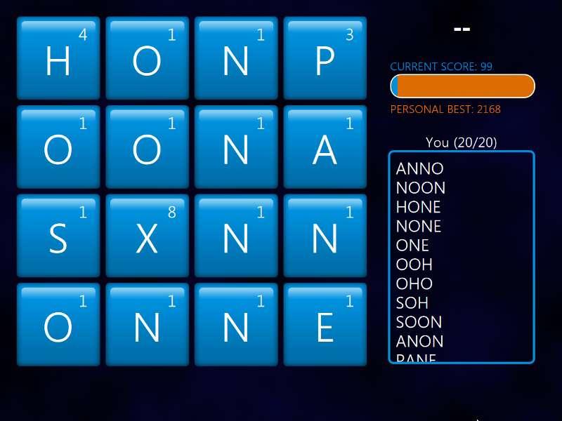 Windows 8 Word Hunt (1/2)