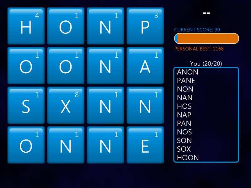 Windows 8 Word Hunt (2/2)