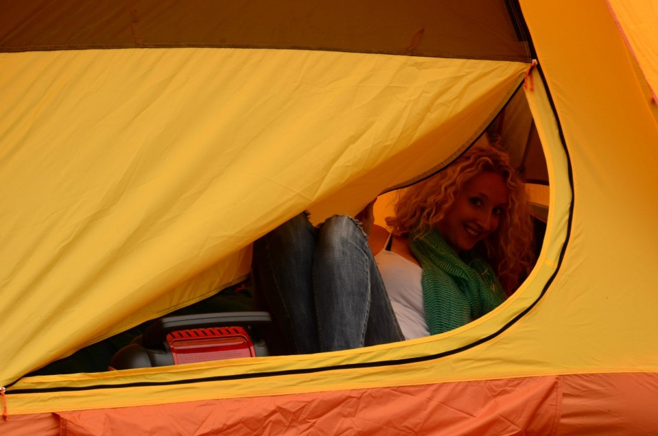 Me in the tent