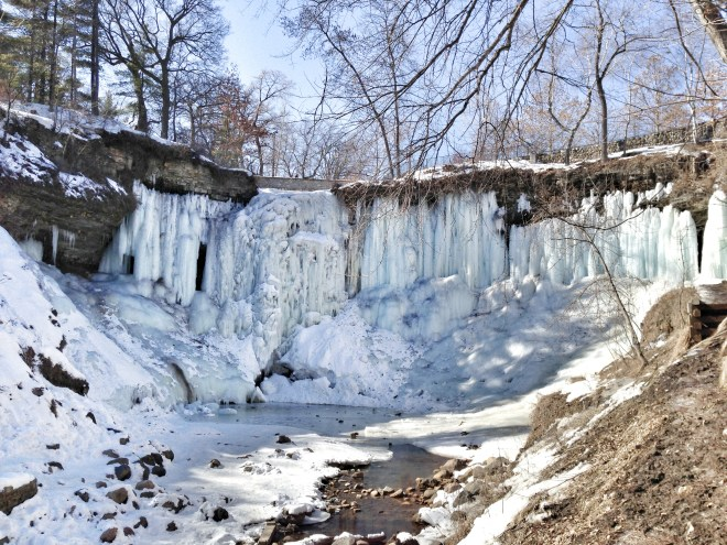 Minnehaha Falls in all it's frozen glory! Unedited.