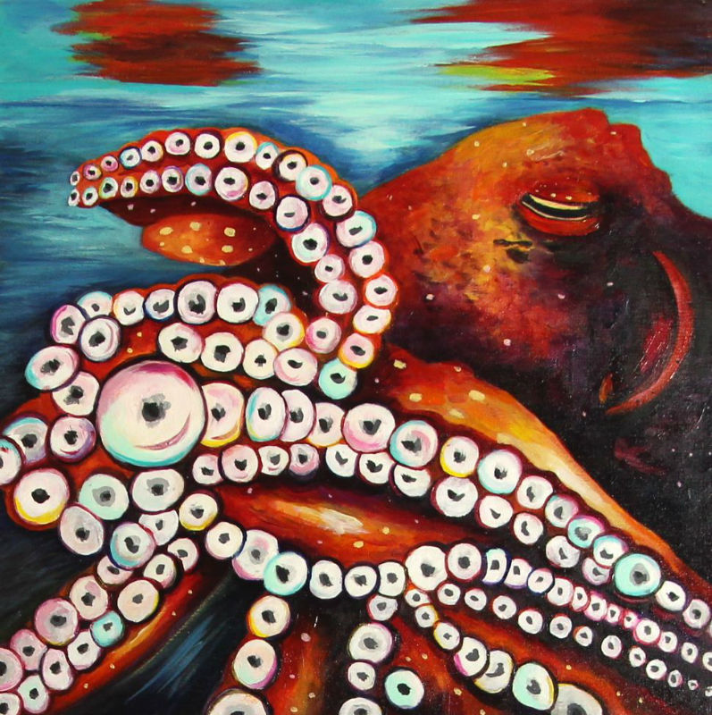 painting of an octopus