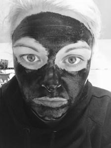 black purifying mask