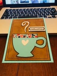 Cricut Coffee Image Card
