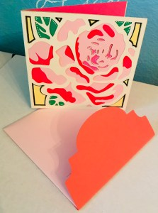 Floral Card and Envelope