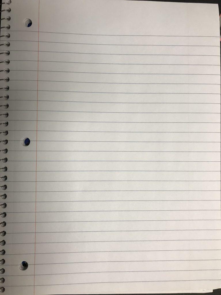 Ipad notebook paper
