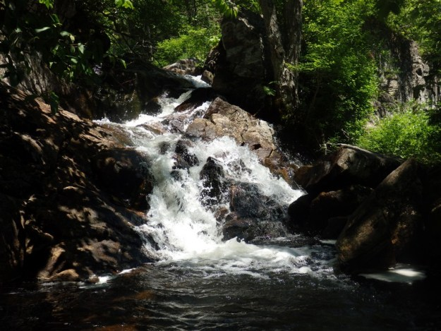 Shallow Pond Outlet Falls, Herkimer County, New York State, Waterfall
