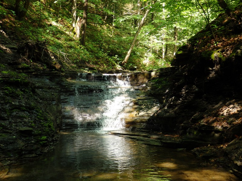 Ohisa Creek, falls on #2, Herkimer County
