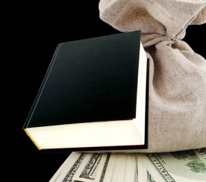 Black book and dollars.