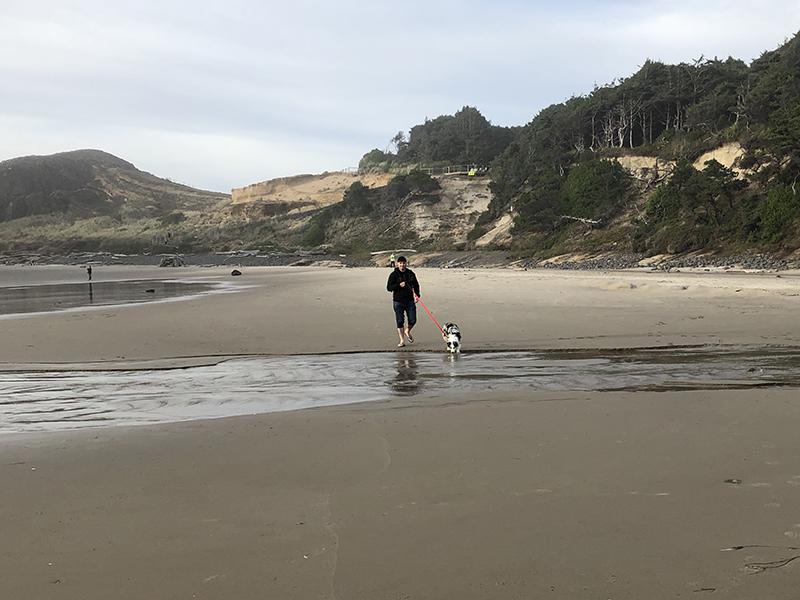 Scott and Danny at Seal Rock Cove