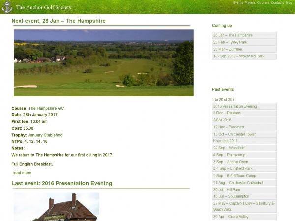 Anchor Golf Society (.com)
