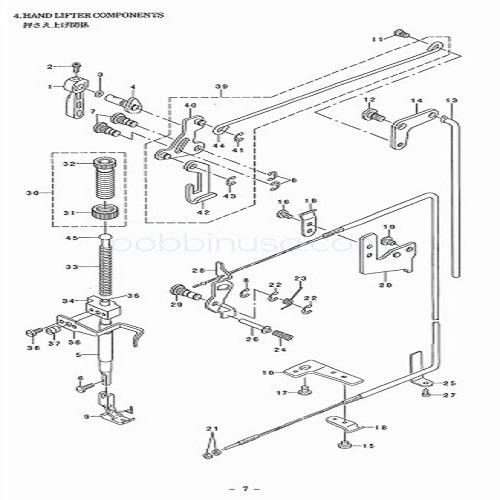 Hand Lifter Single Walking Foot Juki Sewing Machine