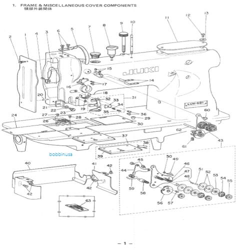 Face Plate Juki Walking Foot Sewing Machine LU-562 LU-1508