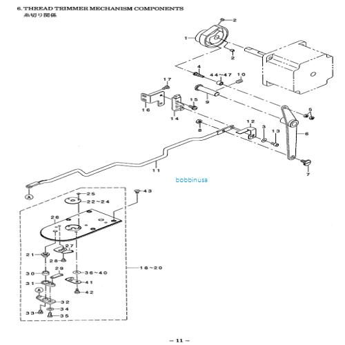 Stationary Knife Fits Juki Bar Tack Sewing Machine LK1850
