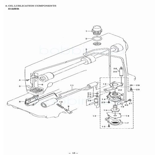 Oil Pump Assembly for Juki Single Needle Sewing Machine