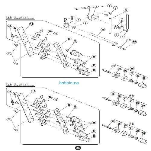 Looper Thread Tube for Pegasus Yamato Juki Coverstitch