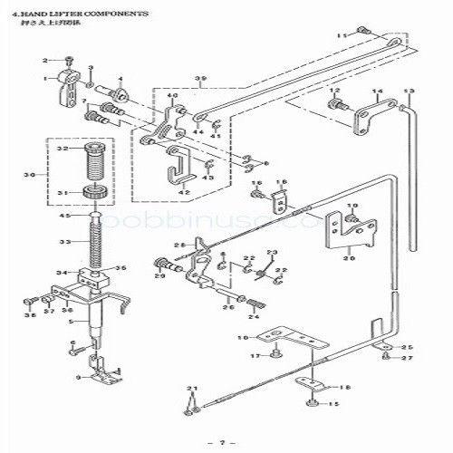 Foot Adjusting Screw Fits Juki Single Sewing Machine