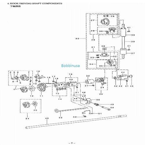Bobbin Case Fits Juki Button Hole Sewing Machine LBH-781