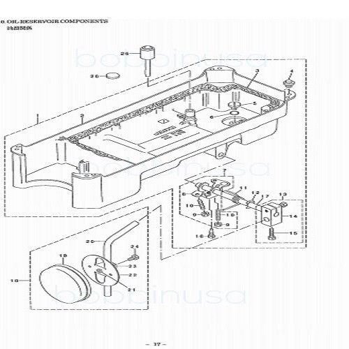 Oil Reservoir Screw W/ Seal Juki Single Needle Sewing