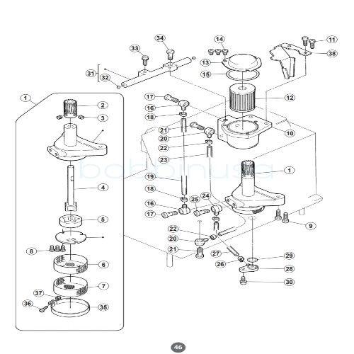 Oil Filter 2pcs Wilcox & Gibbs Pegasus Juki Overlock