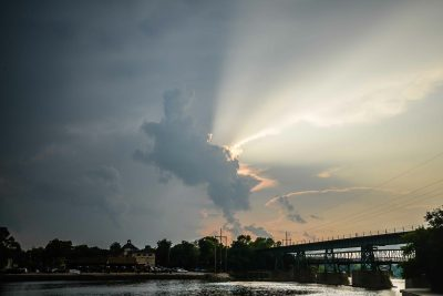 St. Charles clouds - Fox River © Bobbi Rose Photography