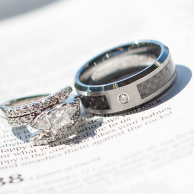 Rings on a bible page © Bobbi Rose Photography