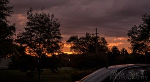 Cambridge Lakes Pingree Grove weather - Bobbi Rose Photography - Sunrise during storm