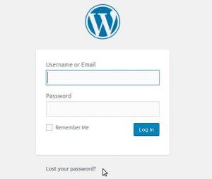 Redefinir a senha de administrador do WordPress por e-mail