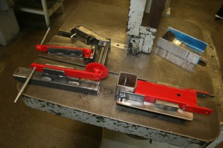 The components of PET devices being fabricated in metals classes at MHS.