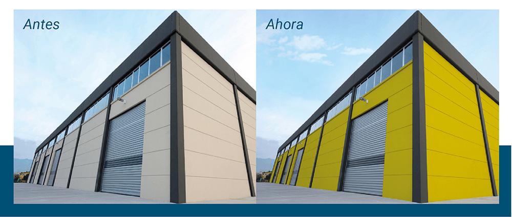 renovacion de fachadas con film