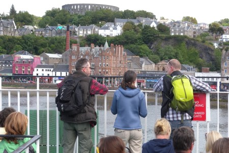 Mark, Fran and Jonny leaving Oban