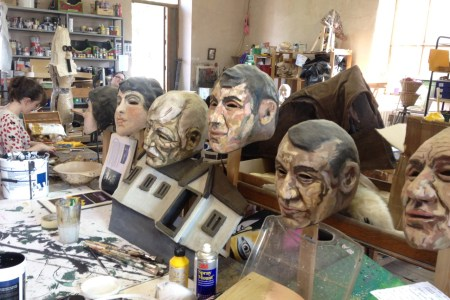 Painting the masks