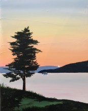 """Calm Waters at Sunset"": Acrylic Original - 11"" x 14"" - $225"