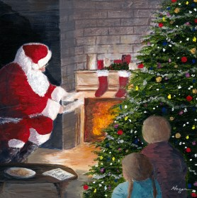 """""""A wink of his eye and a twist of his head, soon gave me to know I had nothing to dread."""" - """"Twas the Night Before Christmas"""" : Clement Clarke Moore and Henry Livingston Jr."""