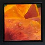 """Dew Tell"": 8"" x 8"" acrylic original (9"" x 9"" with frame) - $225"