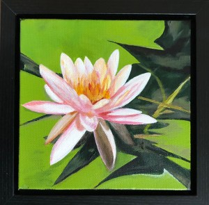 """Purity"": 8"" x 8"" acrylic original (9"" x 9"" with frame) - $225"