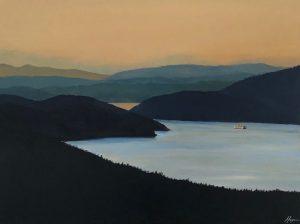 """San Juan Serenity"":""Wind Racing"": Original SOLD/Acrylic enhanced canvas mounted print available"