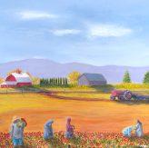 """Beautiful Harvest"": 36"" x 36"" acrylic original"
