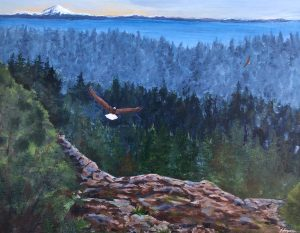 """Soaring with Eagles"": 28"" x 22"" acrylic original"