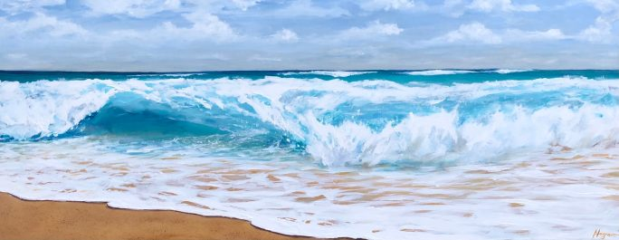 """""""The waves of the sea help me get back to me."""" - Jill Davis"""