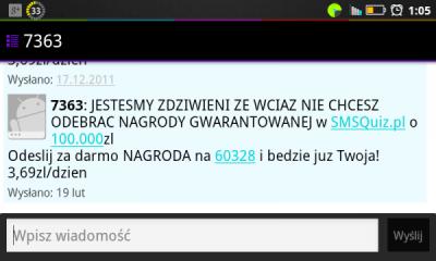 Kolejny konkurs SMS – 7363 smsquiz.pl