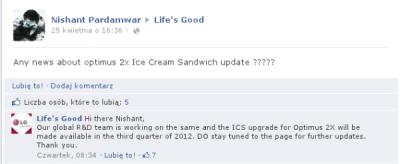 ICS dla LG 2X P990 – jeszcze trochę poczekamy