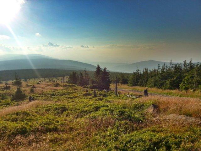 Góry Izerskie - Panorama Sine skałki I